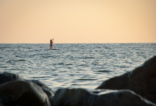 Evening Sea, The Figure Of A R...
