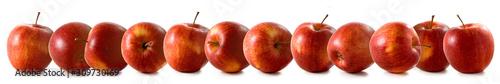 Fototapeta close-up isolated image of apples on a white background obraz