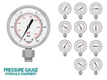 Isolated Pressure Gauge On Whi...