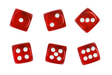 Set Of Red Dice Isolated