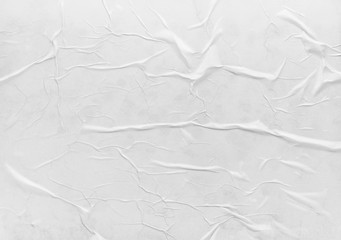 Surface of wet crumpled glued paper
