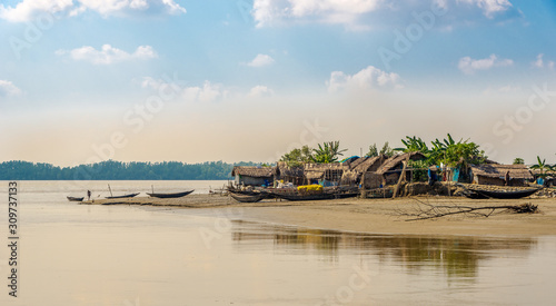 Fototapeta Joymoni village on the banks of the river Sela in Sundarbans national park - Bangladesh obraz
