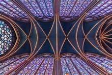 Paris, La Sainte Chapelle, île De La Cité.