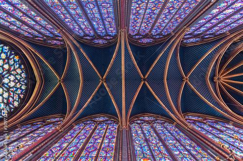 Canvas-taulu Paris, la Sainte Chapelle, île de la cité.