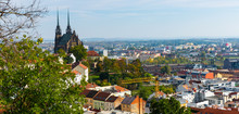 Cityscape Of Brno With Cathedr...