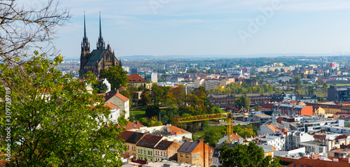 Photo Cityscape of Brno with Cathedral, Czech Republic