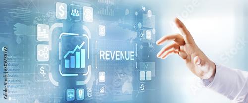 Fotomural Increase revenue profit growth business development concept.