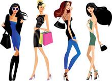 Fashion Girls, Clipart Cute Fa...