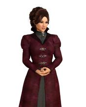 Woman Wearing Victorian Coat A...
