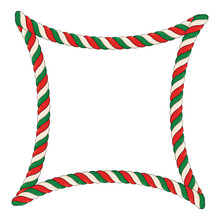 Candy Cane Frame Background. T...