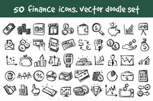Vector Doodle Finance Icons Se...