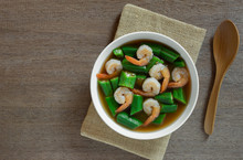 Hot And Sour Okra Soup With Sh...