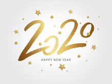 Happy New Year 2020. Vector Ho...