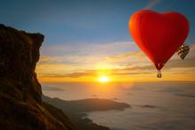 Heart Shape Hot Air Balloon Fl...