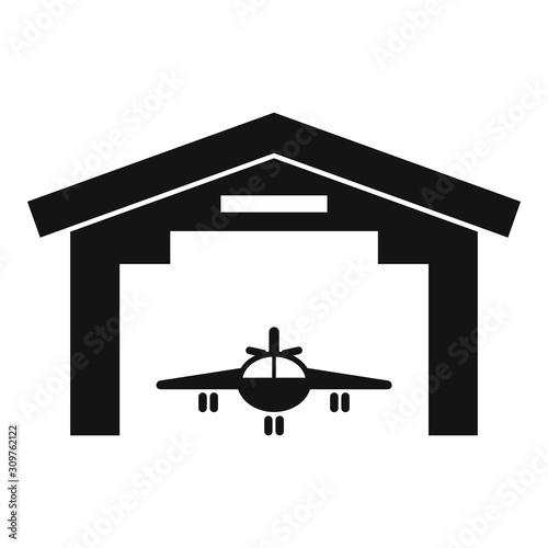 Industry military hangar icon Wallpaper Mural