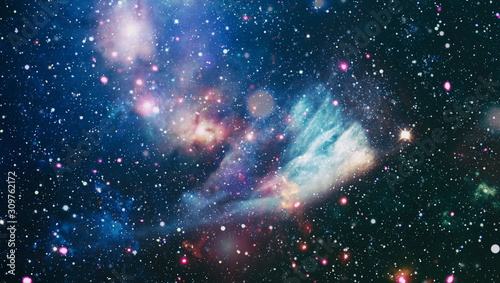 Cosmic clouds of mist on bright colorful backgrounds Canvas Print