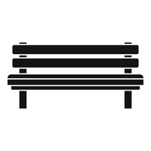 Settle Bench Icon. Simple Illustration Of Settle Bench Vector Icon For Web Design Isolated On White Background