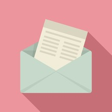 Mail Invitation Icon. Flat Ill...