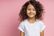 canvas print picture - Portrait of a pretty curly little girl