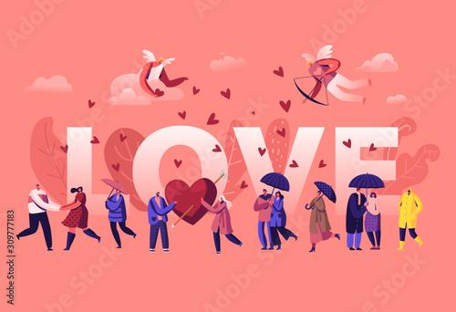 Vászonkép Love and Loving Relations Concept