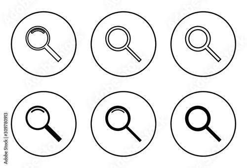 Fototapeta Search vector icon, search magnifying glass icon, Find, Search icon.  obraz na płótnie