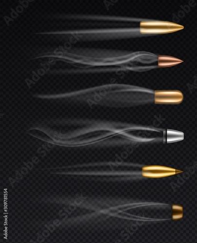 Valokuvatapetti Flying bullets