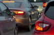 Auto Rücklichter Stau Verkehr