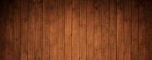 Brown Wooden Background. Beautiful Planks.