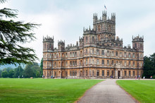 NEWBURY, HAMPSHIRE, ENGLAND - MAY 27 2018: Highclere Castle, A Jacobethan Style Country House, Home Of The Earl And Countess Of Carnarvon. Setting Of Downton Abbey - UK
