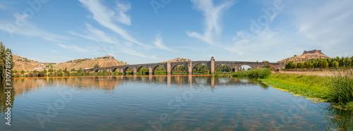Medellin's Roman Bridge in Extremadura, Spain