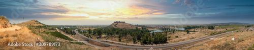 Medellin Castle Landscape in Extremadura, Spain