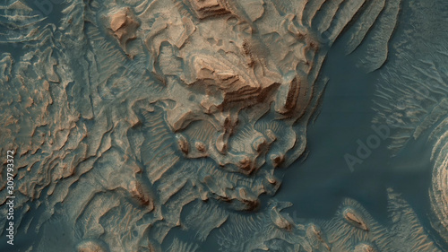 A rare picture from the top of Mars - images from another planet Wallpaper Mural