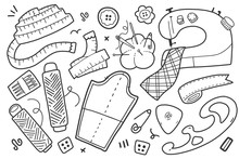 Sewing Cliparts, Collection Of...