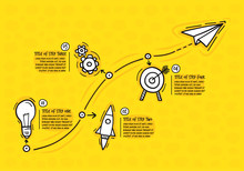 Hand Drawn Infographic Steps. ...