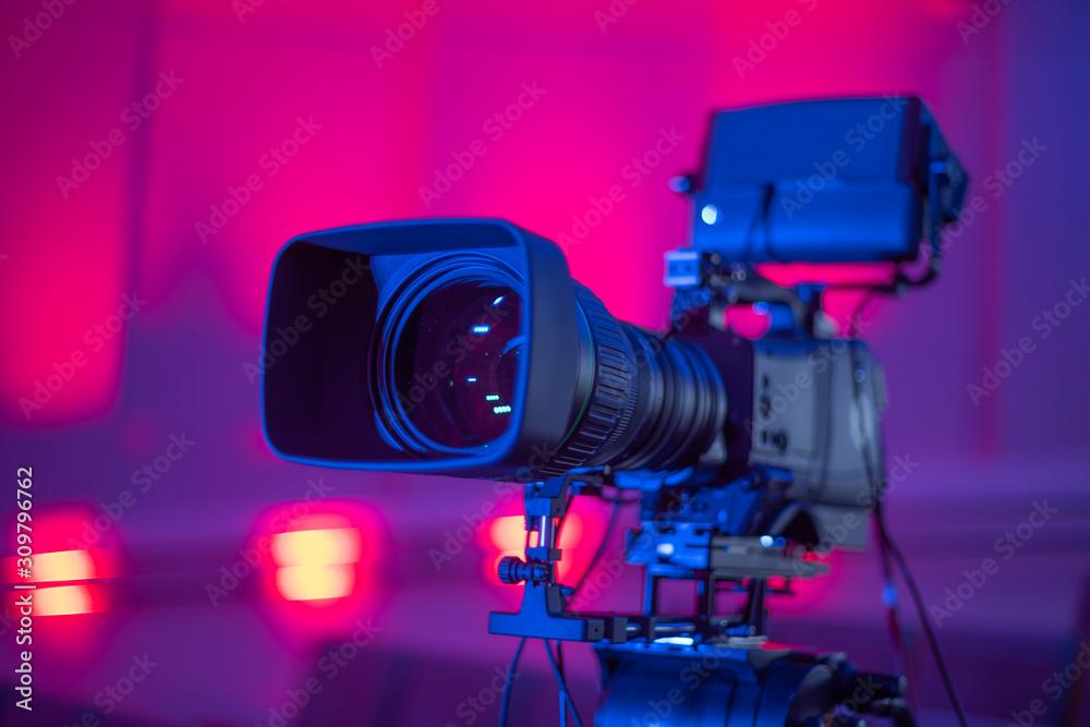 Fototapeta studio camera at the concert.
