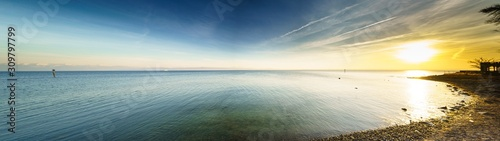 Bodensee Panorama am Abend Wallpaper Mural