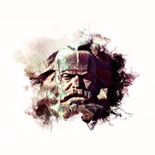 Karl Marx Illustration / Liquid Ink Style