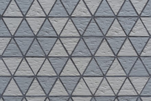 Texture Of Gray Rhombic Wall