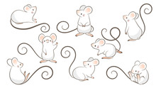 Set Of Hand Drawn Rats, Mouse ...