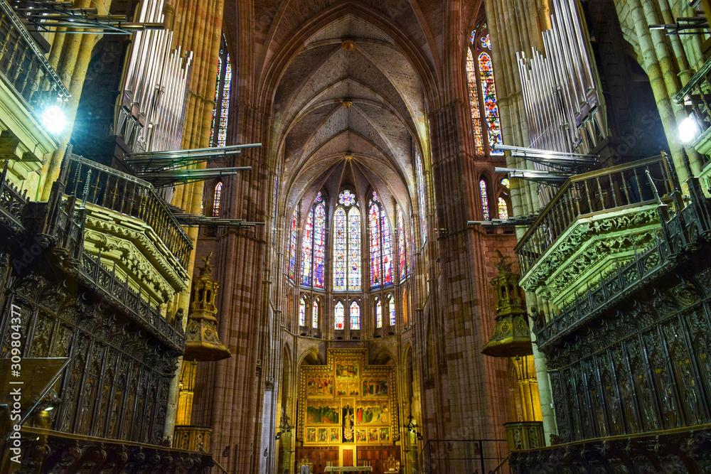 Fototapeta interior of st vitus cathedral