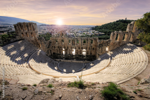 Greece - The Acropolis in Athens Canvas Print
