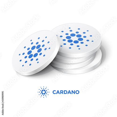 Photo Cardano cryptocurrency tokens