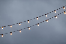 The Lights On The Street In Th...