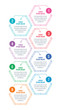 hexagon information template with eight options. hexagon shaped infographic template. web, internet, presentation, business infographic template