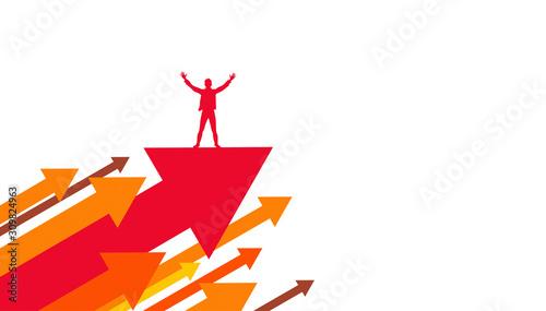 vincere sfida, raggiungere traguardo, felicità Wallpaper Mural
