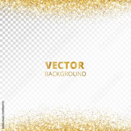 Fototapeta Sparkling glitter border, frame