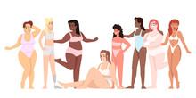Women Dressed In Swimsuits Fla...