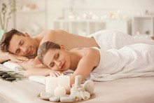 Young Couple Relaxing In Spa S...