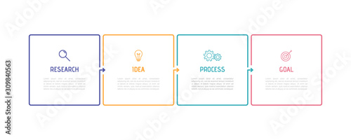 Business process infographic template Wallpaper Mural