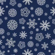 Seamless Background With Snowf...